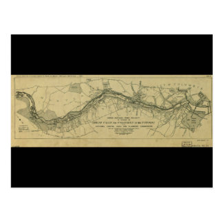 Mapa de Great Falls Park (1928) Postales