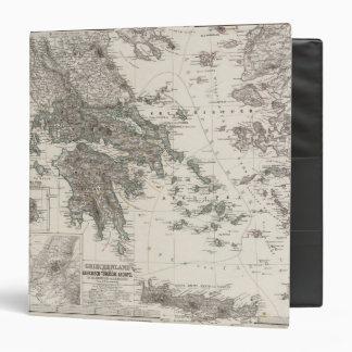 """Mapa de Grecia por Stieler Carpeta 1 1/2"""""""