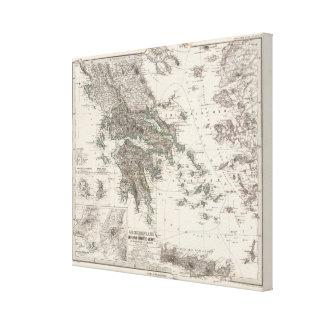 Mapa de Grecia por Stieler Impresion En Lona