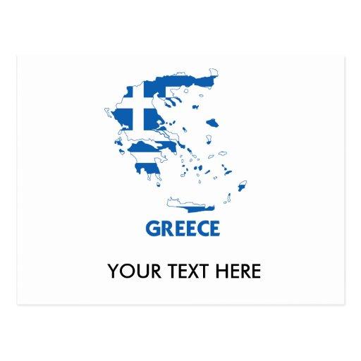 MAPA DE GRECIA POSTALES
