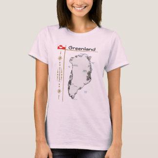 Mapa de Groenlandia + Bandera + Camiseta del