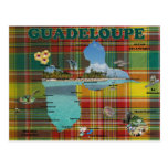 Mapa de Guadalupe en Madrás Tarjeta Postal