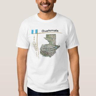 Mapa de Guatemala + Bandera + Camiseta del título Playera
