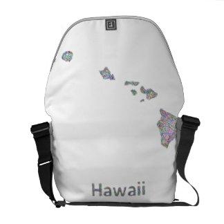 Mapa de Hawaii Bolsas Messenger