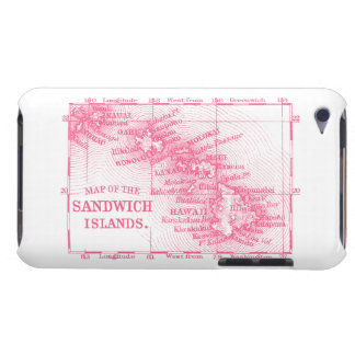Mapa de Hawaii del vintage, rosado Case-Mate iPod Touch Cárcasa
