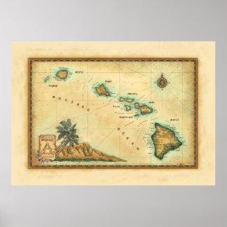 Mapa de Hawaii, tamaños 2 Impresiones