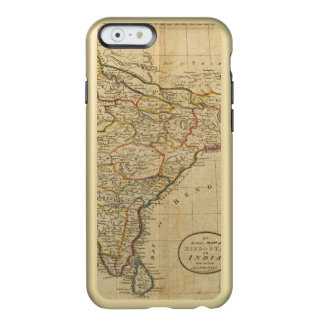 Mapa de Hindostan o de la India Funda Para iPhone 6 Plus Incipio Feather Shine