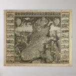 Mapa de Holanda 1609 - Claes Jansz Visscher Posters