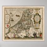 Mapa de Holanda 1617 - Leo Belgicus Impresiones