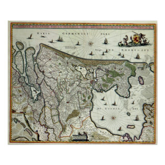 Mapa de Holanda 1682 - por Nicolao Visscher Impresiones