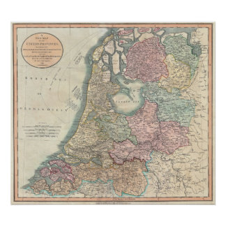 Mapa de Holanda 1799 - por Juan Cary Poster