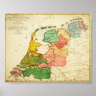 Mapa de Holanda 1809 - Reino de Holanda Impresiones