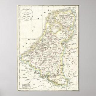 Mapa de Holanda 1832 - Delamarche Impresiones