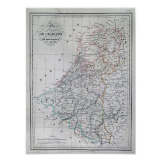 Mapa de Holanda 1835 - Malte-Brun Posters