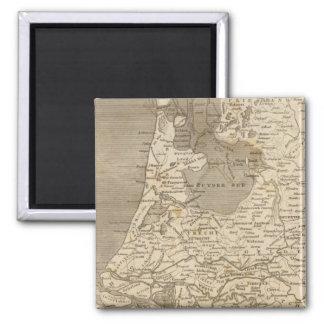 Mapa de Holanda por Arrowsmith Imán Cuadrado