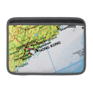 Mapa de Hong Kong Funda Para Macbook Air