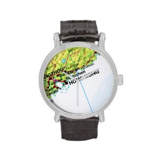 Mapa de Hong Kong Reloj