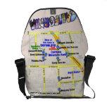 Mapa de hoteles alrededor de la bolsa de mensajero bolsas de mensajeria