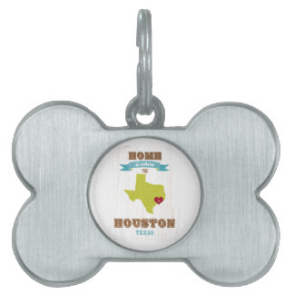 Mapa de Houston, Tejas - casero es donde está el c Placa Mascota