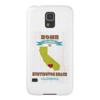 Mapa de Huntington Beach, California - casero es Funda Para Galaxy S5