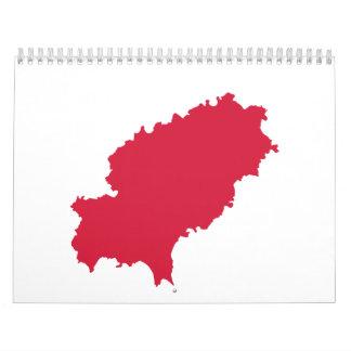 Mapa de Ibiza Calendario