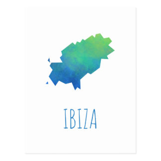Mapa de Ibiza Postales