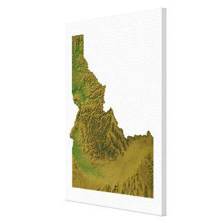 Mapa de Idaho 2 Lienzo Envuelto Para Galerias