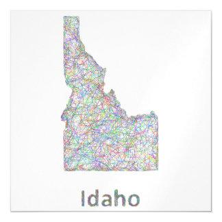 Mapa de Idaho Invitaciones Magnéticas