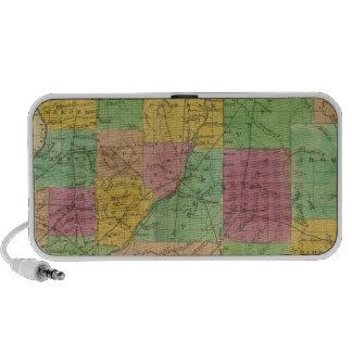 Mapa de Illinois Notebook Altavoz