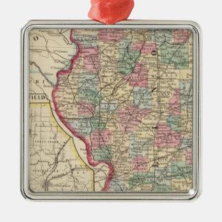 Mapa de Illinois de Mitchell Ornamentos De Reyes