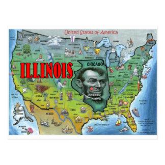 Mapa de Illinois los E E U U