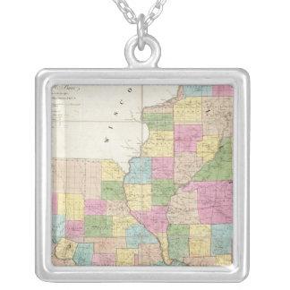 Mapa de Illinois y de Missouri Colgante Cuadrado