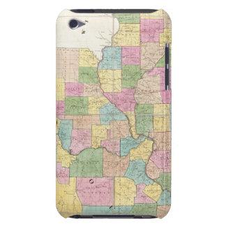 Mapa de Illinois y de Missouri iPod Case-Mate Cobertura