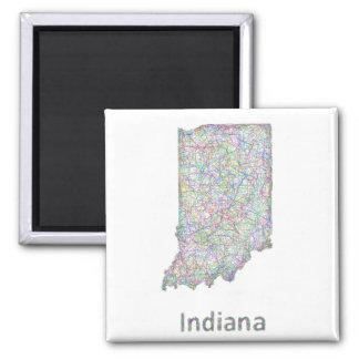 Mapa de Indiana Imán Cuadrado
