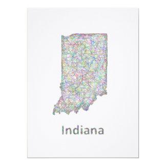 """Mapa de Indiana Invitación 6.5"""" X 8.75"""""""