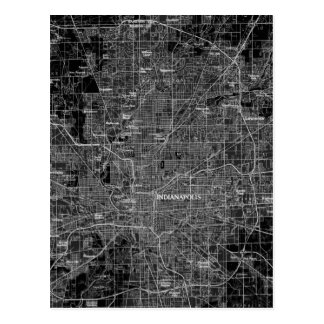Mapa de Indianapolis del vintage Postal