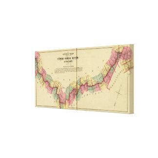 Mapa de índice al atlas del río Ohio superior Impresión En Lona