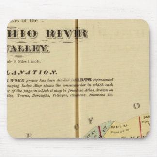 Mapa de índice al atlas del río Ohio superior Tapete De Raton