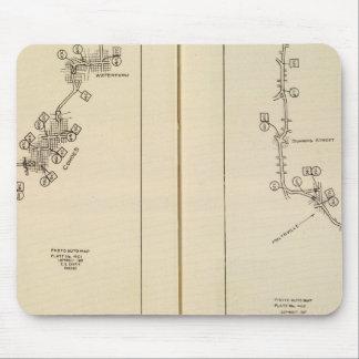 Mapa de índice Albany Saratoga Springs Tapete De Raton