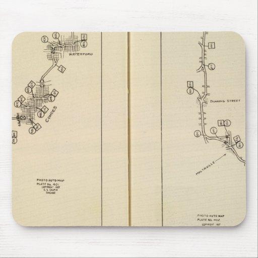 Mapa de índice Albany, Saratoga Springs Tapete De Raton