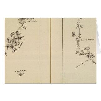 Mapa de índice Albany Saratoga Springs Felicitación