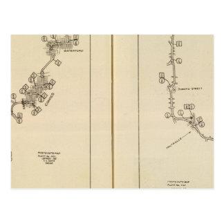Mapa de índice Albany Saratoga Springs Tarjetas Postales