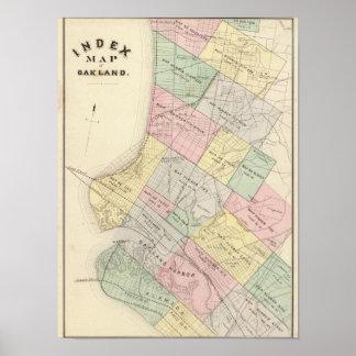 Mapa de índice de Oakland Poster