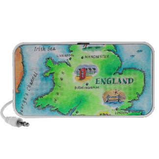 Mapa de Inglaterra Mp3 Altavoces