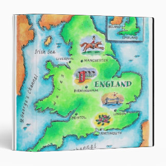 "Mapa de Inglaterra Carpeta 1 1/2"""