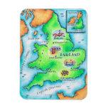 Mapa de Inglaterra Iman Rectangular