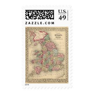 Mapa de Inglaterra, País de Gales de Mitchell Sellos