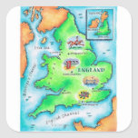 Mapa de Inglaterra Pegatina Cuadrada