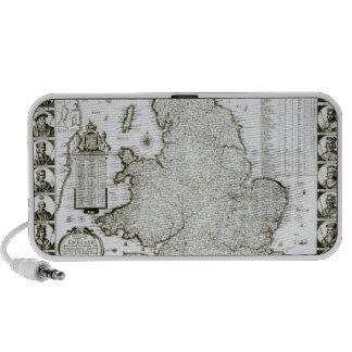 Mapa de Inglaterra y de País de Gales, 1644 iPhone Altavoces