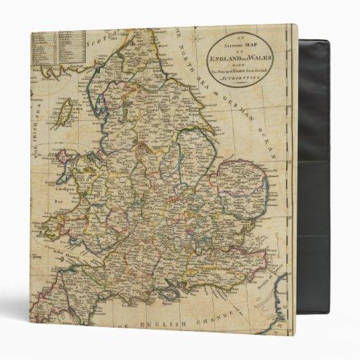 """Mapa de Inglaterra y de País de Gales Carpeta 1 1/2"""""""